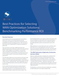 Best Practices for Selecting WAN Optimization ... - Network World