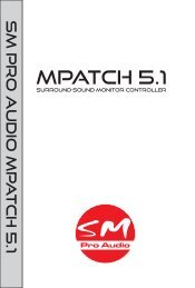 MPatch51 manual MM 9-7-10.cdr - SM Pro Audio