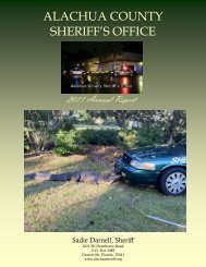 2011 Annual Report - Alachua County Sheriff's Office