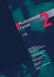 Muskuloskeletalt Forum - 2/2002 (pdf) - Fagforum for ...