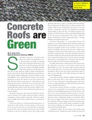 Concrete Roofs are - National Ready Mixed Concrete Association