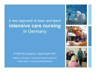 A new approach to learn and teach intensive care nursing in Germany