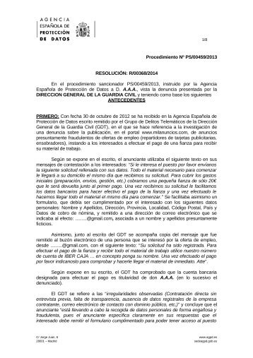 PS-00459-2013_Resolucion-de-fecha-28-02-2014_Art-ii-culo-6.1-LOPD