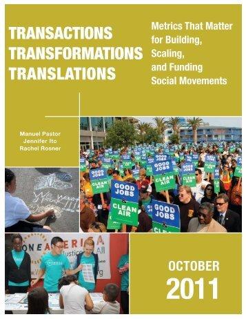 Transactions – Transformations – Translations - USC Dana and ...