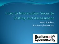 Security Testing and Assessment Methodologies - National Institute ...