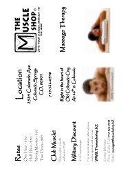 Massage Brochure - The Muscle Shop