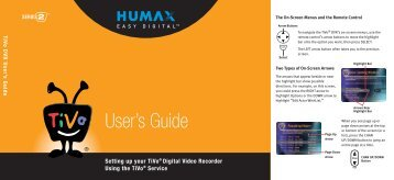 Humax Series2 DVR Users Guide - TiVo