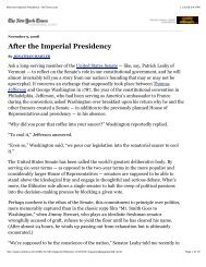 After the Imperial Presidency - NYTimes.com