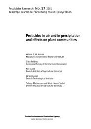 Pesticides in air and in precipitation and effects on ... - Miljøstyrelsen