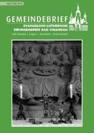 Kirchgemeindebrief April-Mai 2013 - Evangelisch-Lutherische ...