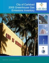 City of Carlsbad 2005 Greenhouse Gas Emissions Inventory