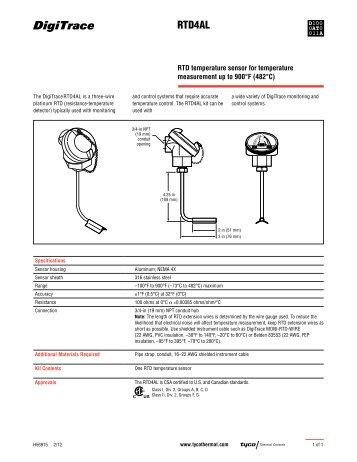 RTD4AL - Tyco Thermal Controls