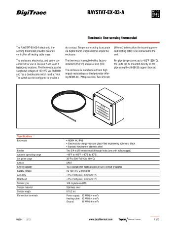 RAYSTAT-EX-03-A - Tyco Thermal Controls