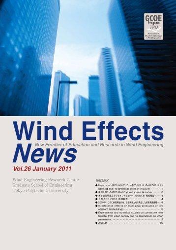 Vol.26 January 2011 - 風工学・教育研究のニューフロンティア - 東京 ...