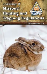 Summary of Missouri Hunting and Trapping Regulations