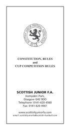 SJFA Constitution & Rules 2012-13 - Scottish Football Association