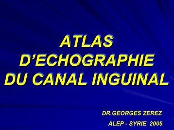 atlas d'echographie du canal inguinal