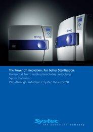 Systec D-Series Autoclaves - TekniScience.com