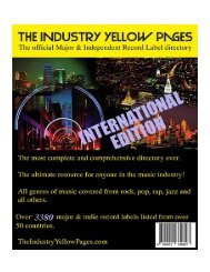 Record Labels - The Industry Yellow Pages