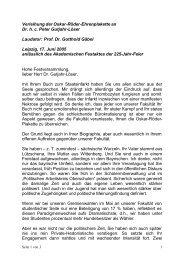 Laudatio Gäbel - Veterinärmedizinische Fakultät - Universität Leipzig