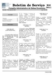 Boletim de Serviço nº 06 2011 - Conselho Administrativo de Defesa ...