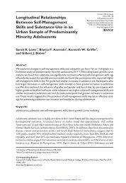 Longitudinal Relationships Between Self-Management Skills and ...