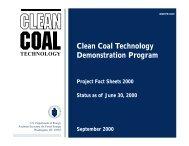 Clean Coal Technology Demonstration Program ... - P2 InfoHouse