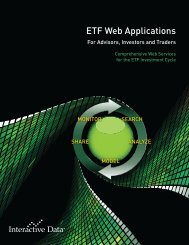 ETF Web Applications - Interactive Data