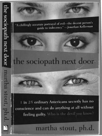 The Sociopath Next Door by Martha Stout (2006, Paperback)