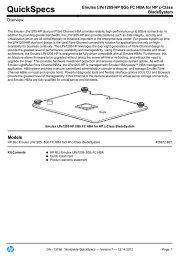 Emulex LPe1205-HP 8Gb FC HBA for HP c-Class BladeSystem