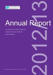 Read the Annual Report - Belfast Health and Social Care Trust