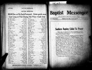January 25, 1922 - Baptist General Convention of Oklahoma