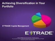 Achieving Diversification in Your Portfolio - E*Trade