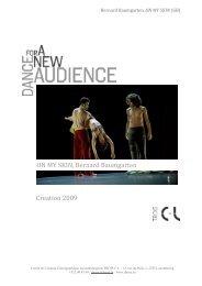 creation 2009 ON MY SKIN, Bernard Baumgarten - Le Trois C-L