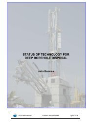 STATUS OF TECHNOLOGY FOR DEEP BOREHOLE DISPOSAL