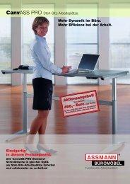 CanvASS PRO Steh-Sitz-Arbeitsplätze. Mehr Dynamik im Büro ...