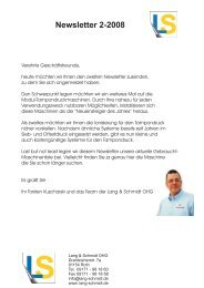 Newsletter 2-2008 - Lang & Schmidt OHG