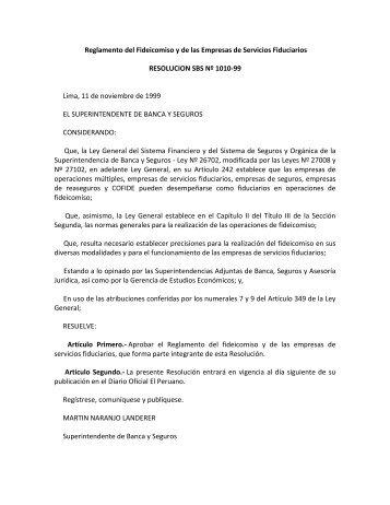 Reglamento del Fideicomiso y de las Empresas de ... - La Fiduciaria