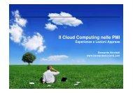 Il Cloud Computing nelle PMI re. 2 - Bernardo Nicoletti