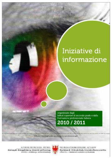 INIZIATIVE D'INFO AS 2010-2011 IT