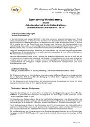 Sponsoring-Vereinbarung - MFA – Maintenance and Facility ...