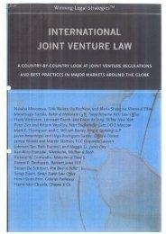 INTERNATIONAL JOINT VENTURE LAW - Serap Zuvin Law Offices