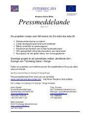 Projekt över gränsen - Interreg Sverige Norge