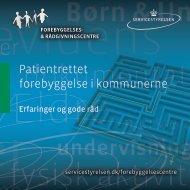 Patientrettet forebyggelse i kommunerne - Socialstyrelsen