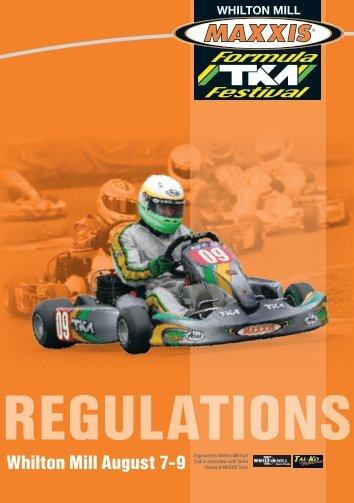 2009 Maxxis Formula TKM Festival Regulations - Tal-Ko Racing