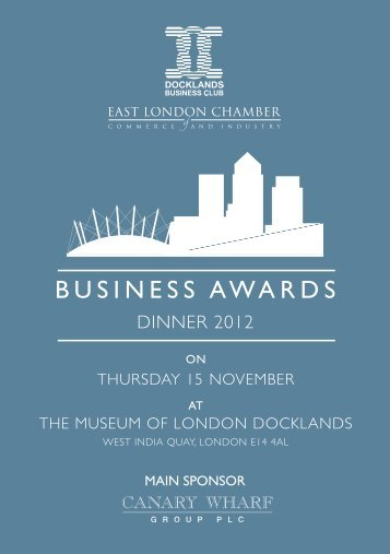BUSINESS AWARDS - London Chamber of Commerce and Industry