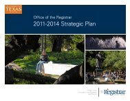strategic plan pdf - Office of the Registrar - The University of Texas at ...