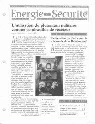 Les effets du plutonium sur la santi. - Institute for Energy and ...