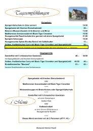 Tagesempfehlung: Mittag - Restaurant Sternen