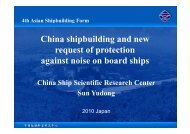 Chi hi b ildi d China shipbuilding and new request of protection ...